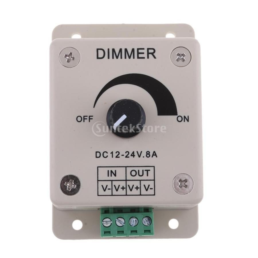 Homyl LEDストリップライト PWM調光 安い コントローラ調光器 12V 白 超目玉 ボート海洋ヨット用