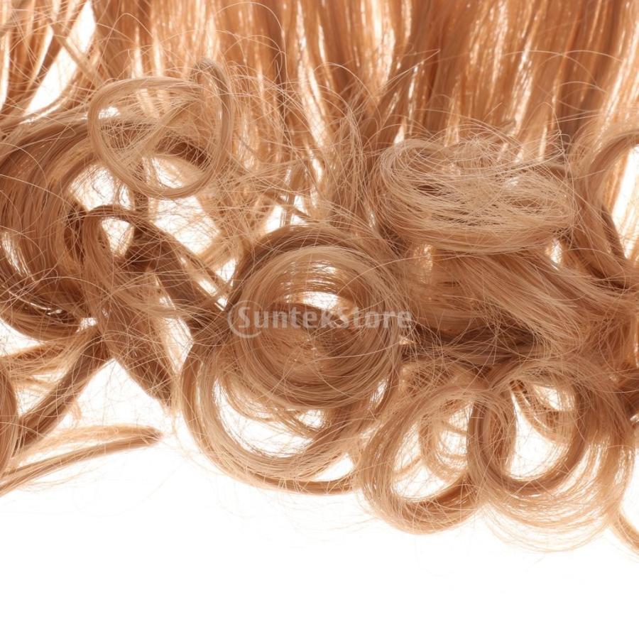 全10カラー 高温ワイヤー製 人形ウィッグ ドールウィッグ スウィートスタイル 縮毛 カーリーヘアウィッグ - (27D)コーヒー|stk-shop|03