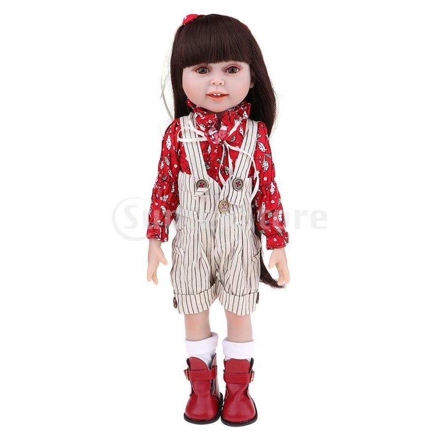 人形フィギュア おもちゃ 18インチBJDガールドール NPKドール ジャンプスーツ シューズ