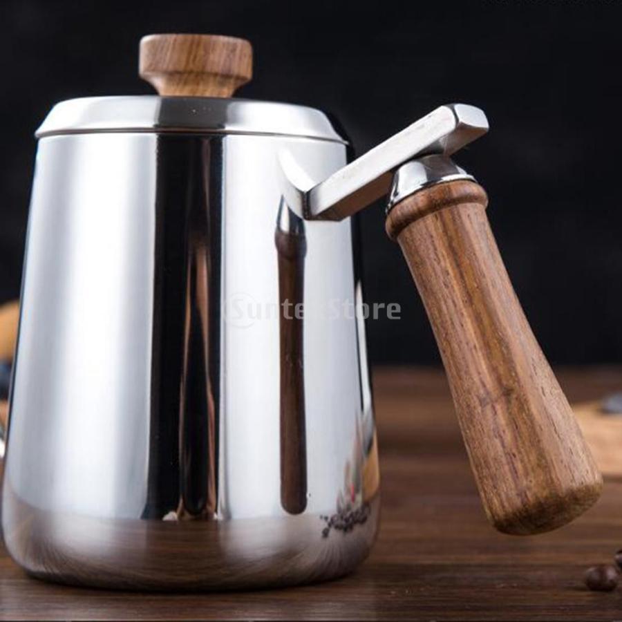 グースネック コーヒー ティー 紅茶 モカ ケトル 沸騰 ドリップポット 350ml ステンレス 全2容量選択可能|stk-shop|02