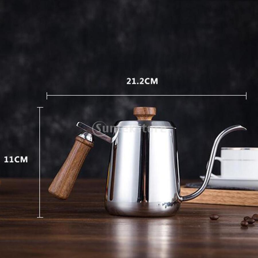 グースネック コーヒー ティー 紅茶 モカ ケトル 沸騰 ドリップポット 350ml ステンレス 全2容量選択可能|stk-shop|13