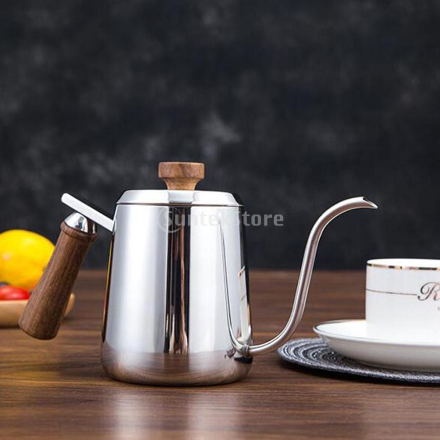 グースネック コーヒー ティー 紅茶 モカ ケトル 沸騰 ドリップポット 350ml ステンレス 全2容量選択可能|stk-shop|14