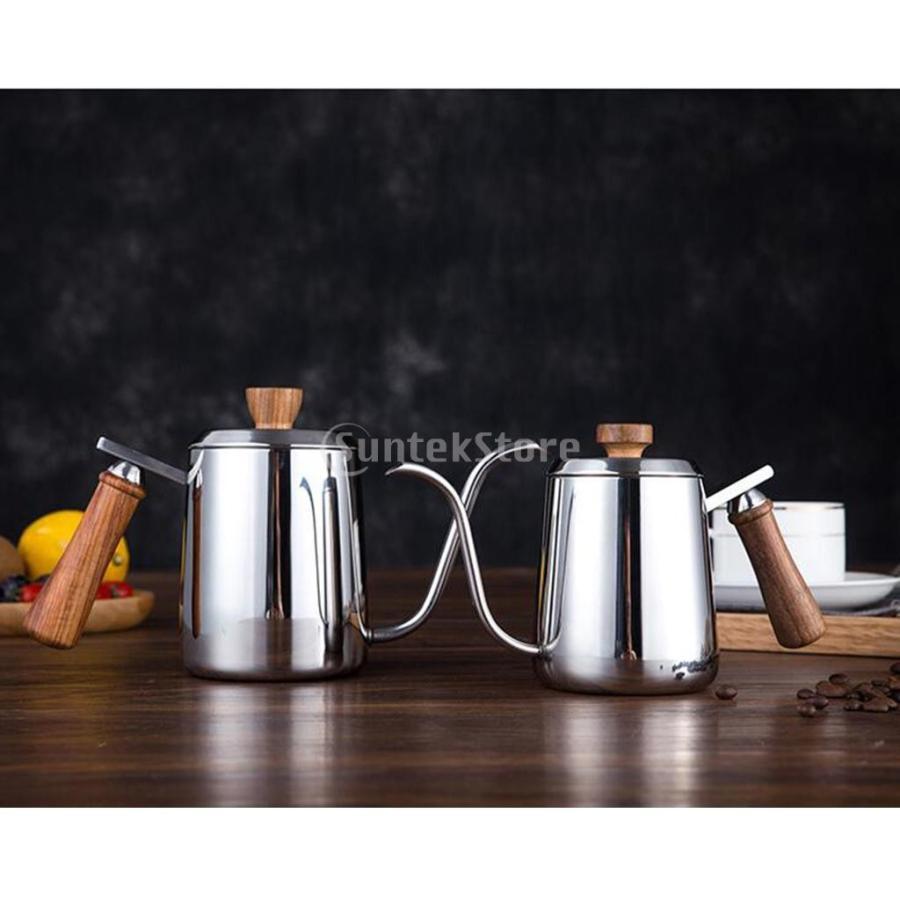 グースネック コーヒー ティー 紅茶 モカ ケトル 沸騰 ドリップポット 350ml ステンレス 全2容量選択可能|stk-shop|03