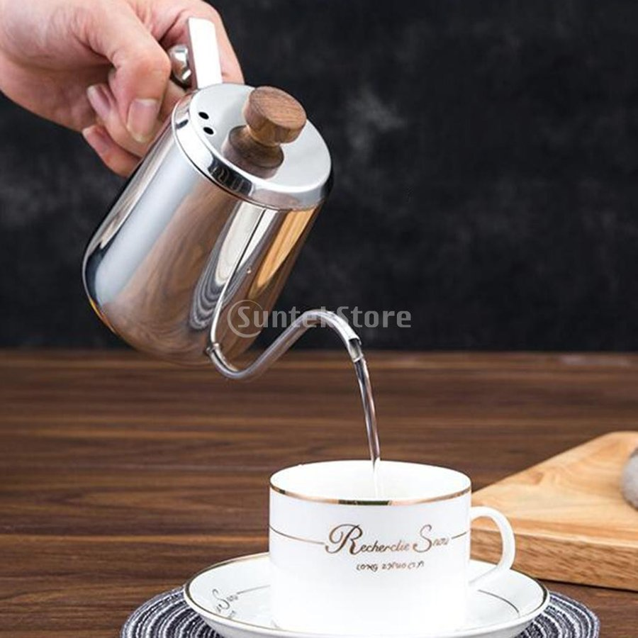 グースネック コーヒー ティー 紅茶 モカ ケトル 沸騰 ドリップポット 350ml ステンレス 全2容量選択可能|stk-shop|06