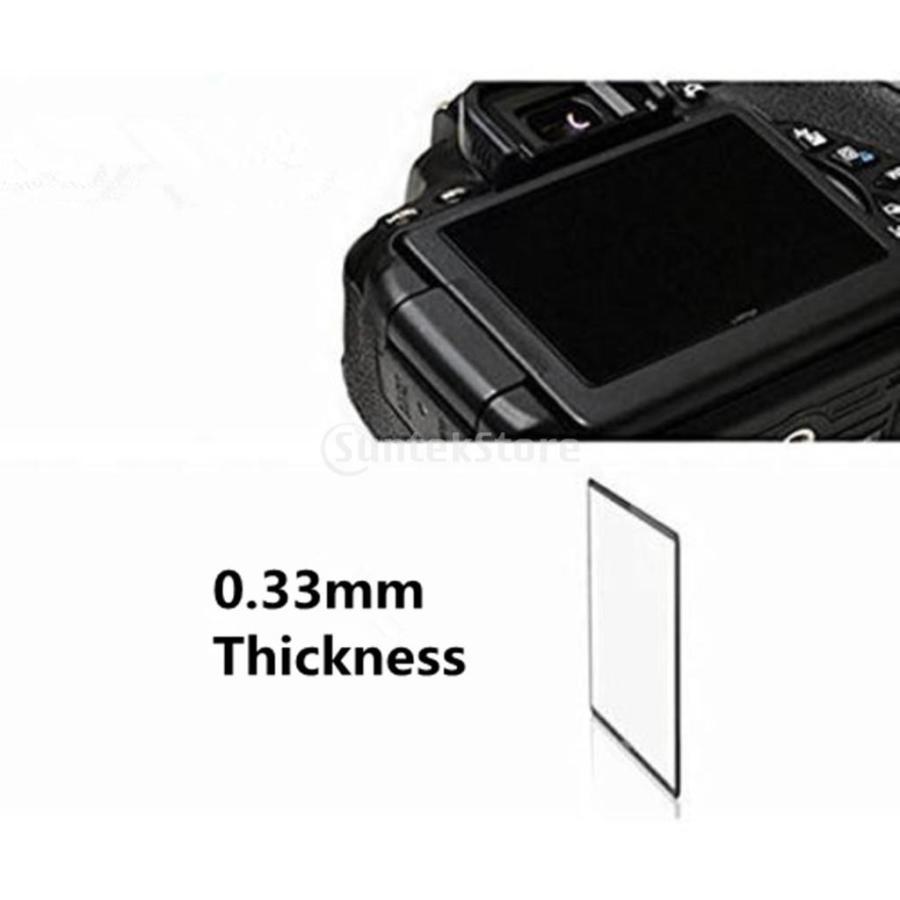 超薄 カメラ 液晶保護フィルム 強化ガラス Nikon DSLR D500適用 高感度 LCDスクリーン プロテクター stk-shop 12