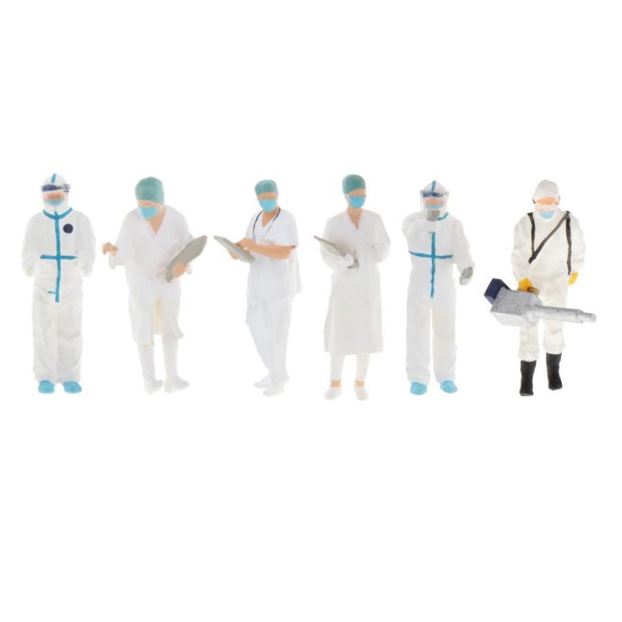 1:64スケールモデルミニドクターフィギュアpvc人マッチ箱おもちゃのグループの装飾 stk-shop