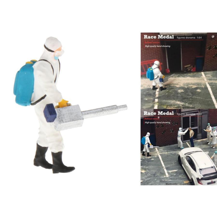 1:64スケールモデルミニドクターフィギュアpvc人マッチ箱おもちゃのグループの装飾 stk-shop 06