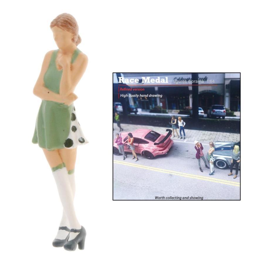 2-4ミニ1:64ジオラマフィギュア思考女性の風景家の装飾|stk-shop|02