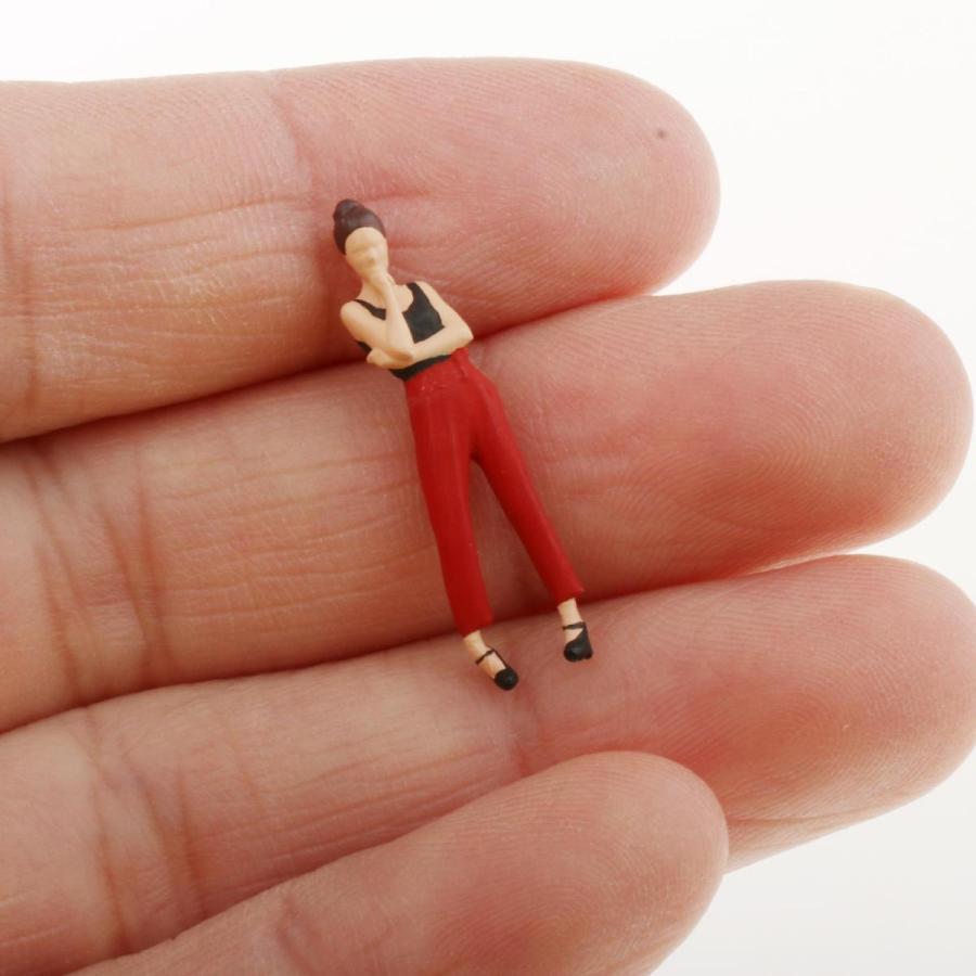 2-4ミニ1:64ジオラマフィギュア思考女性の風景家の装飾|stk-shop|07