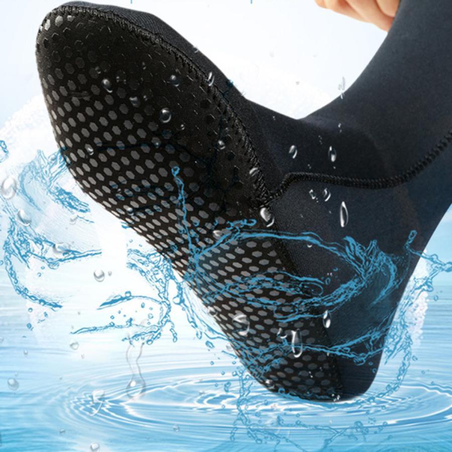 ネオプレンソックス3ミリメートルビーチ防水ソックスブーツ靴下ダイビング水泳サーフィンシュノーケリングワタリカヤックラフティング stk-shop 02