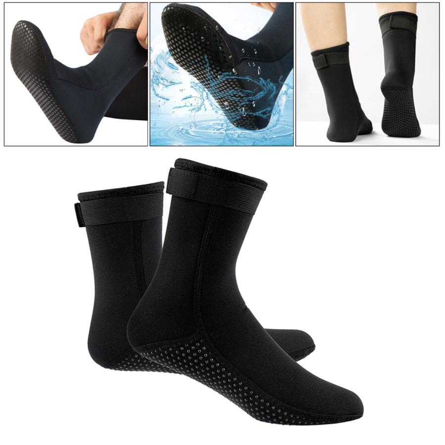 ネオプレンソックス3ミリメートルビーチ防水ソックスブーツ靴下ダイビング水泳サーフィンシュノーケリングワタリカヤックラフティング stk-shop 05