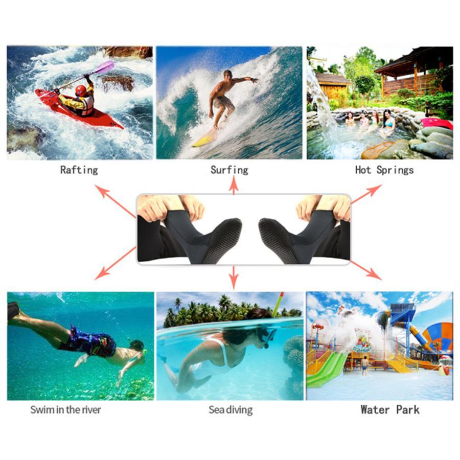 ネオプレンソックス3ミリメートルビーチ防水ソックスブーツ靴下ダイビング水泳サーフィンシュノーケリングワタリカヤックラフティング stk-shop 10
