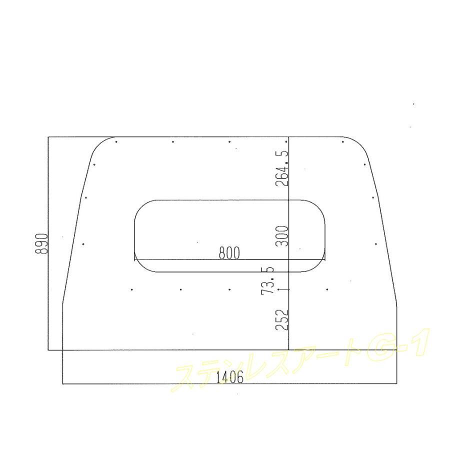 ダイハツ ハイゼットジャンボ500系 鳥居カバー 角穴 アルミシマ板仕様 stn-art-g-1