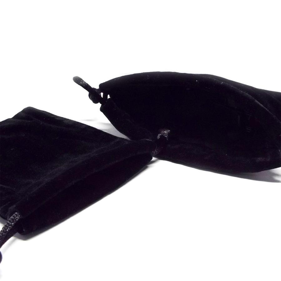 最安値 アクセサリー 小物入れ ベロア 袋 ブラック 巾着袋 ミニポーチ 約12×10cm 1枚 パワーストーン ハンドメイド アクセサリー|stone-kitchen|02