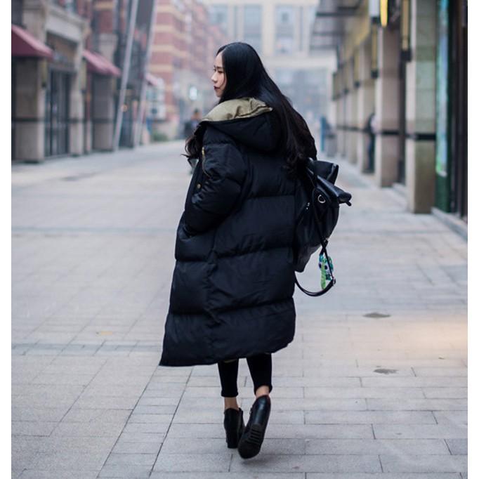 在庫処分セール  中綿コート レディース ロング フード付き ラグラン ゆったり 大きいサイズ 無地 黒 カジュアル 春 アウター ロング 短納期|store-candyz|11