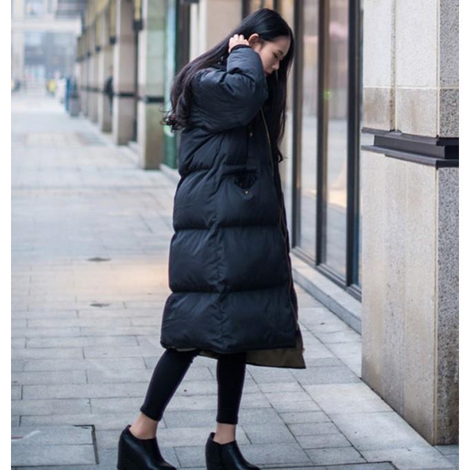 在庫処分セール  中綿コート レディース ロング フード付き ラグラン ゆったり 大きいサイズ 無地 黒 カジュアル 春 アウター ロング 短納期|store-candyz|12