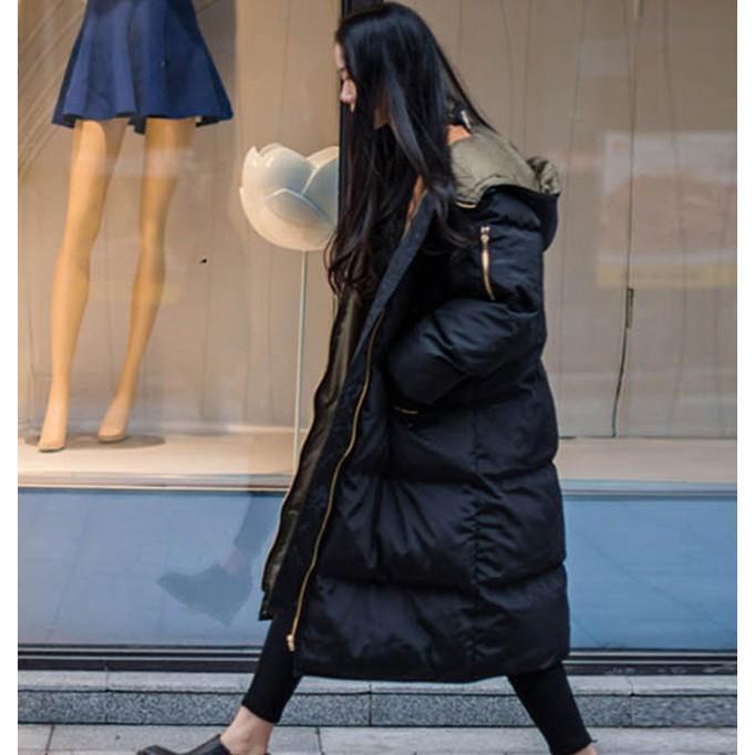 在庫処分セール  中綿コート レディース ロング フード付き ラグラン ゆったり 大きいサイズ 無地 黒 カジュアル 春 アウター ロング 短納期|store-candyz|14