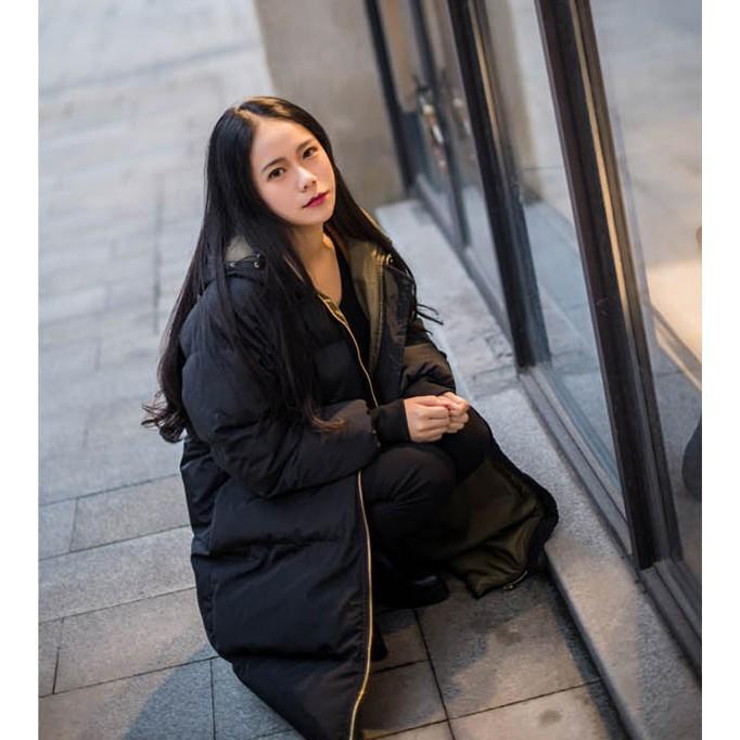 在庫処分セール  中綿コート レディース ロング フード付き ラグラン ゆったり 大きいサイズ 無地 黒 カジュアル 春 アウター ロング 短納期|store-candyz|06