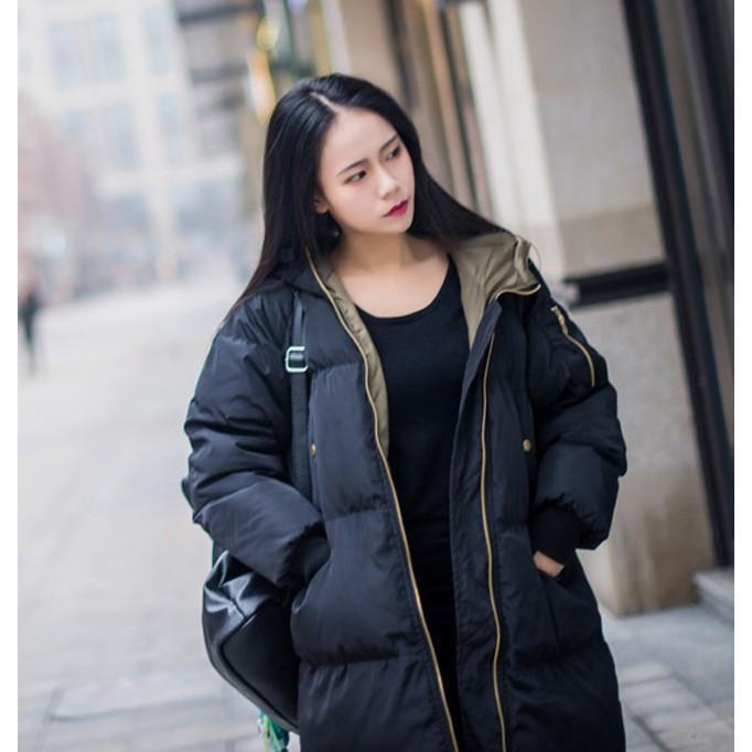 在庫処分セール  中綿コート レディース ロング フード付き ラグラン ゆったり 大きいサイズ 無地 黒 カジュアル 春 アウター ロング 短納期|store-candyz|10