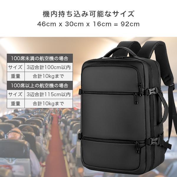 リュック メンズ ビジネス バッグ 軽量 3WAY PC USBポート 大容量 ポケット 防水 通勤 通学 出張 旅行 収納 宅配便送料別【予約】11/10〜20入荷予定|store-delight|16
