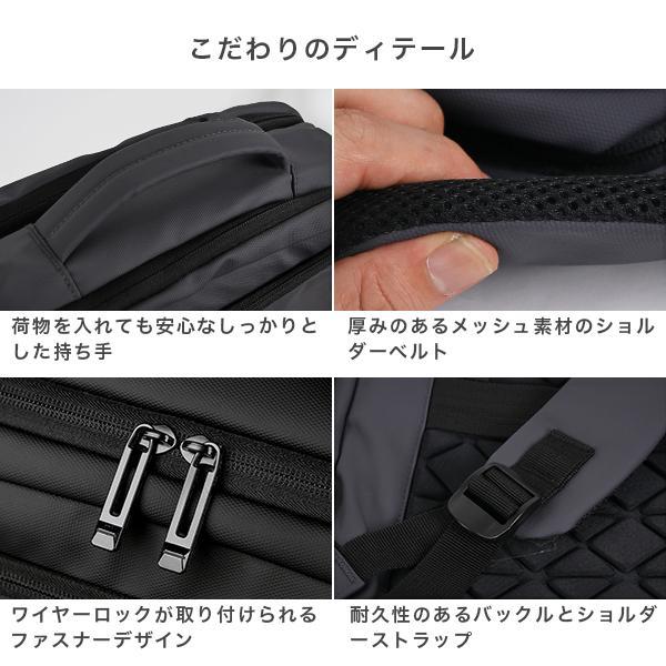 リュック メンズ ビジネス バッグ 軽量 3WAY PC USBポート 大容量 ポケット 防水 通勤 通学 出張 旅行 収納 宅配便送料別【予約】11/10〜20入荷予定|store-delight|17