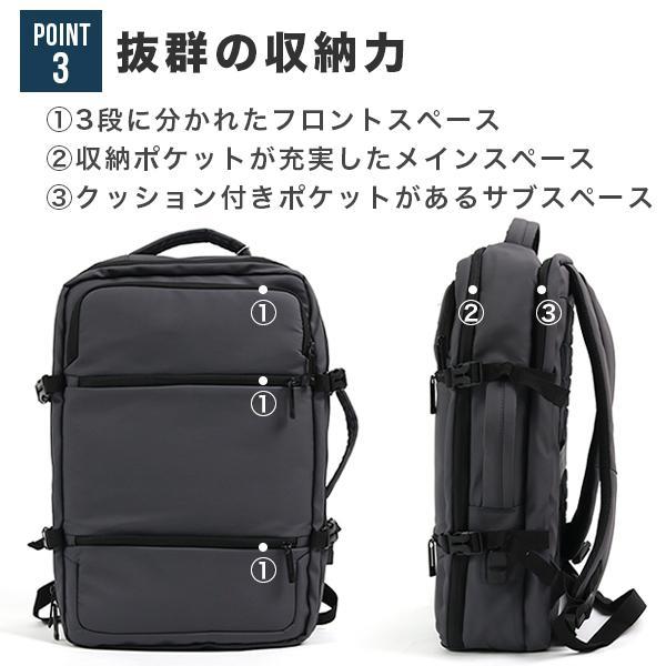 リュック メンズ ビジネス バッグ 軽量 3WAY PC USBポート 大容量 ポケット 防水 通勤 通学 出張 旅行 収納 宅配便送料別【予約】11/10〜20入荷予定|store-delight|04