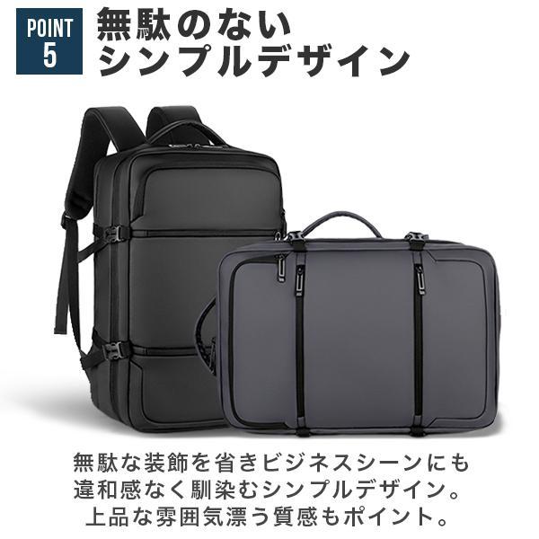 リュック メンズ ビジネス バッグ 軽量 3WAY PC USBポート 大容量 ポケット 防水 通勤 通学 出張 旅行 収納 宅配便送料別【予約】11/10〜20入荷予定|store-delight|09