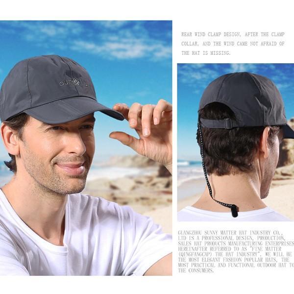 キャップ メンズ レディース 防水 帽子 折り畳み UV対策 男女兼用 紫外線 日焼け対策 スポーツ 運動 メール便のみ送料無料2 store-delight 04