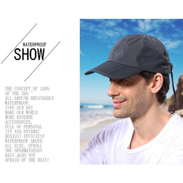 キャップ メンズ レディース 防水 帽子 折り畳み UV対策 男女兼用 紫外線 日焼け対策 スポーツ 運動 メール便のみ送料無料2 store-delight 05
