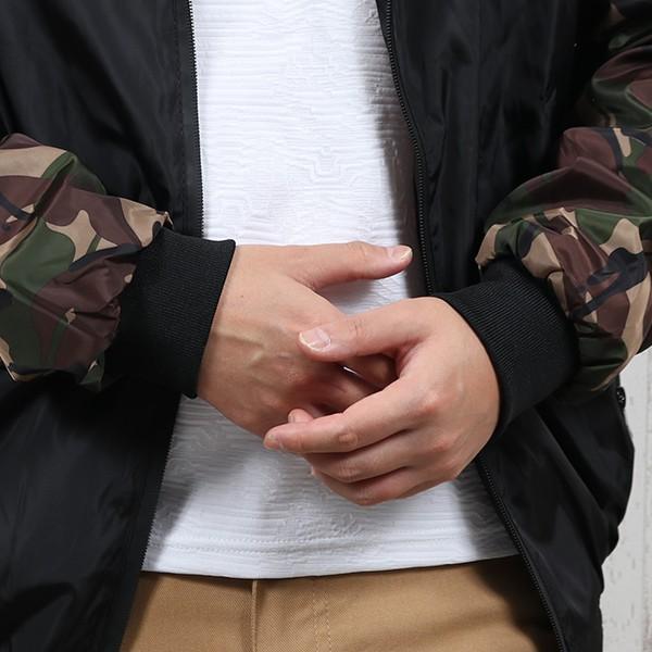ジャケット メンズ 秋 冬 ナイロン ウィンドブレーカー 迷彩 防風 ブルゾン 薄手 パーカー ジップアップ メール便のみ送料無料|store-delight|14