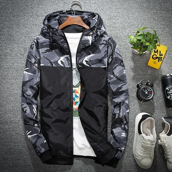 ジャケット メンズ 秋 冬 ナイロン ウィンドブレーカー 迷彩 防風 ブルゾン 薄手 パーカー ジップアップ メール便のみ送料無料|store-delight|15