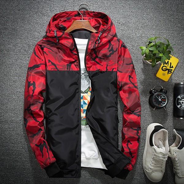 ジャケット メンズ 秋 冬 ナイロン ウィンドブレーカー 迷彩 防風 ブルゾン 薄手 パーカー ジップアップ メール便のみ送料無料|store-delight|16