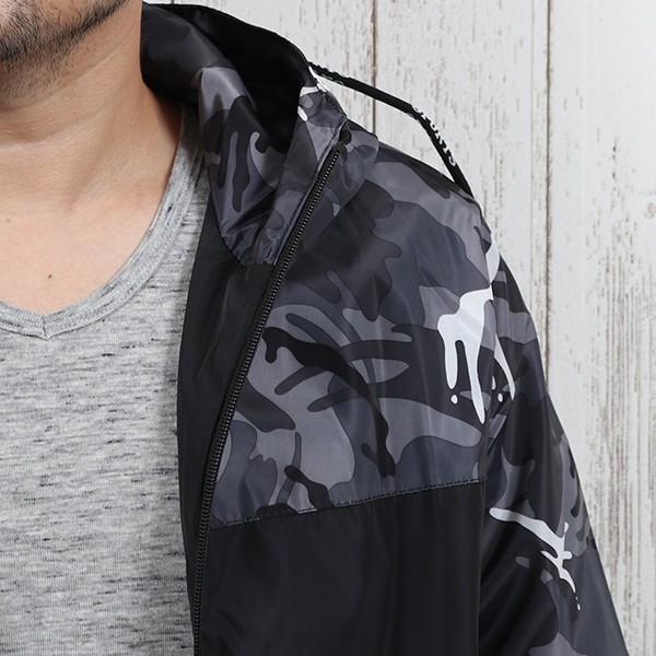 ジャケット メンズ 秋 冬 ナイロン ウィンドブレーカー 迷彩 防風 ブルゾン 薄手 パーカー ジップアップ メール便のみ送料無料|store-delight|05