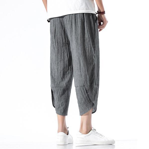 綿麻パンツ メンズ サルエルパンツ ワイド リネン 薄手 快適 カジュアル ゆったり 涼しい 冷感 薄手 メール便 送料無料|store-delight|11