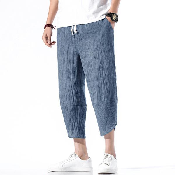 綿麻パンツ メンズ サルエルパンツ ワイド リネン 薄手 快適 カジュアル ゆったり 涼しい 冷感 薄手 メール便 送料無料|store-delight|13
