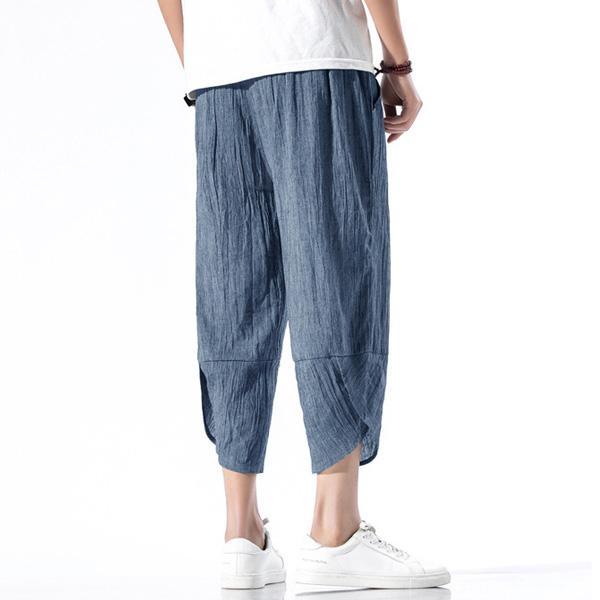綿麻パンツ メンズ サルエルパンツ ワイド リネン 薄手 快適 カジュアル ゆったり 涼しい 冷感 薄手 メール便 送料無料|store-delight|14