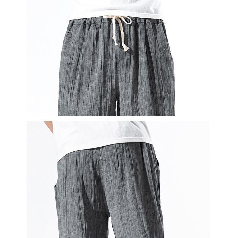 綿麻パンツ メンズ サルエルパンツ ワイド リネン 薄手 快適 カジュアル ゆったり 涼しい 冷感 薄手 メール便 送料無料|store-delight|16