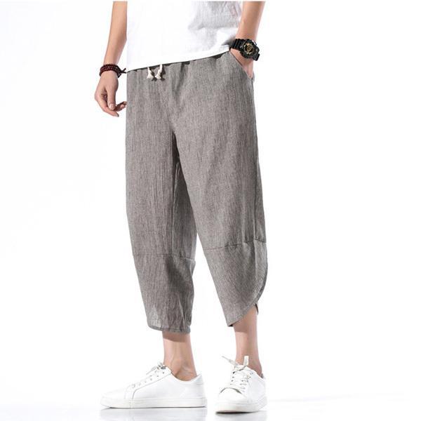 綿麻パンツ メンズ サルエルパンツ ワイド リネン 薄手 快適 カジュアル ゆったり 涼しい 冷感 薄手 メール便 送料無料|store-delight|07