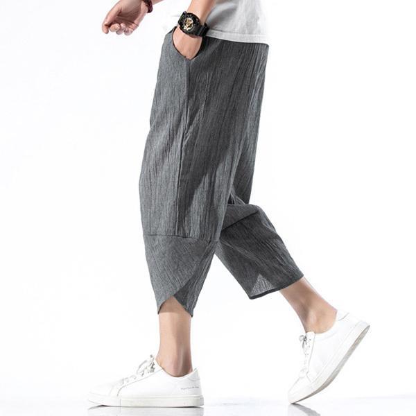 綿麻パンツ メンズ サルエルパンツ ワイド リネン 薄手 快適 カジュアル ゆったり 涼しい 冷感 薄手 メール便 送料無料|store-delight|10