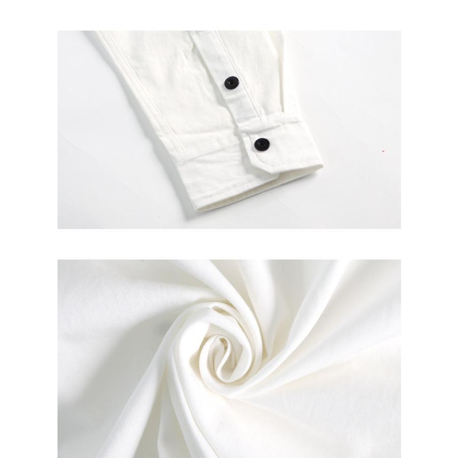 シャツ メンズ 長袖 ウエスタン スリム カジュアル レギュラーカラー ボタン シンプル  メール便のみ送料無料2 store-delight 17