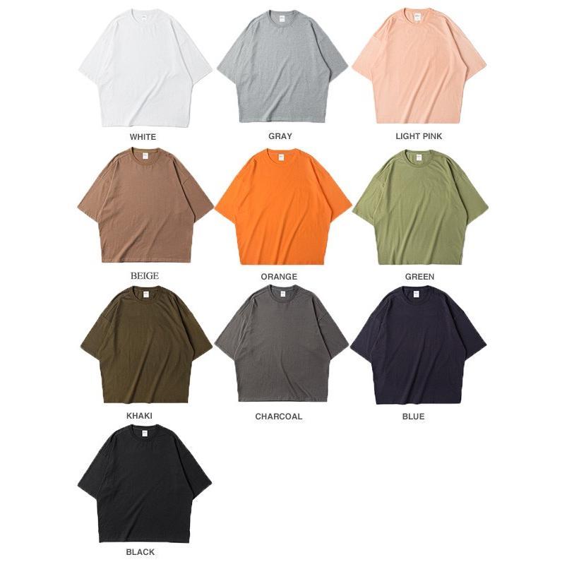 Tシャツメンズ BIGシルエット オーバーサイズ ビッグ 半袖 ストリート ルーズ 大きめサイズ 無地Tトップスメール便のみ送料無料2【予約】11/10〜20入荷予定|store-delight|16