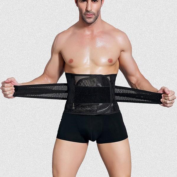 腰用サポーターベルト 通気性ベルト コルセット 姿勢矯正 腰痛対策 メール便のみ送料無料2  store-delight 05