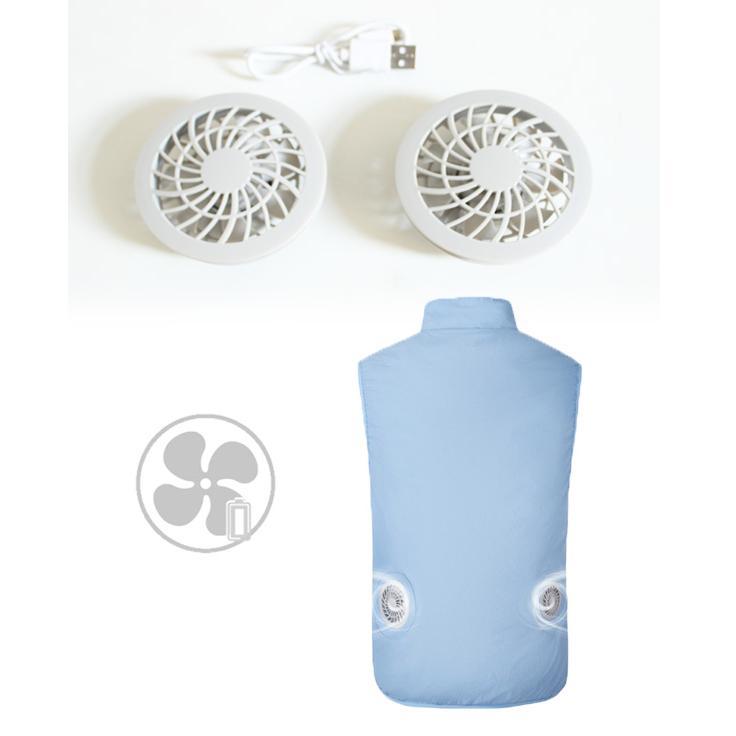ファン付 作業服 空調服 ベスト 夏用 フルセット 扇風機付き作業服 バッテリー付 10000mAh 熱中症対策 薄手 宅配便 送料無料|store-delight|10