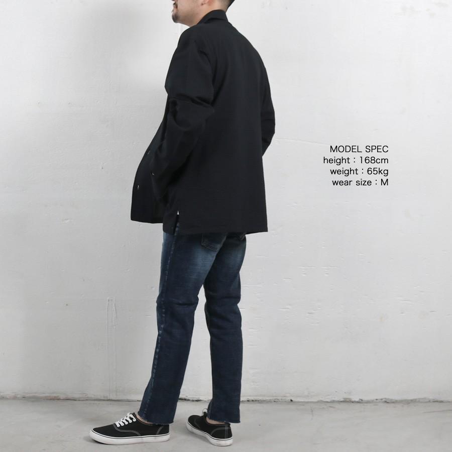 ジャケット メンズ トップス カバーオール シアサッカー ビッグシルエット シンプル ゆったり おしゃれ カジュアル 宅配便 送料無料 store-delight 08