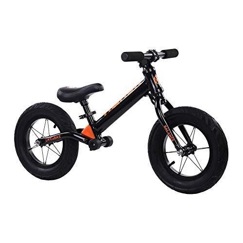 MoreBike ペダルなし自転車 子供用 超軽量 アルミ製 バランスバイク (黒ka)