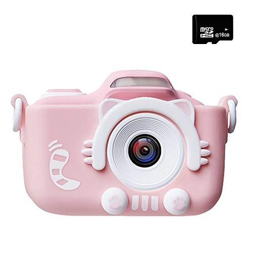 子供用 デジタルカメラ トイカメラ 自撮可能 1600万画素 2インチ 4倍ズーム 16G容量SDカード 付 ピンク