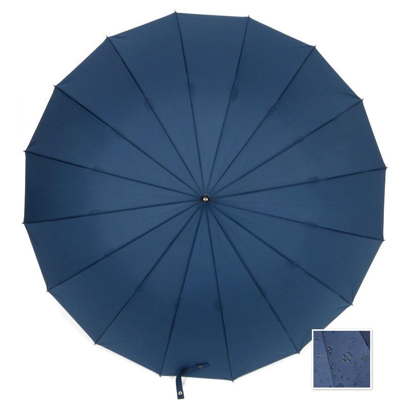 傘 レディース 長傘 ワンタッチ ジャンプ傘 大きめ 16本骨 かさ カサ 雨で桜が浮き出る傘 story-web 10