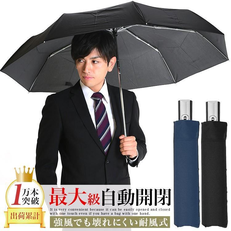 折りたたみ傘 メンズ 自動開閉 大きい 風に強い 耐風 ワンタッチ 65cm|story-web