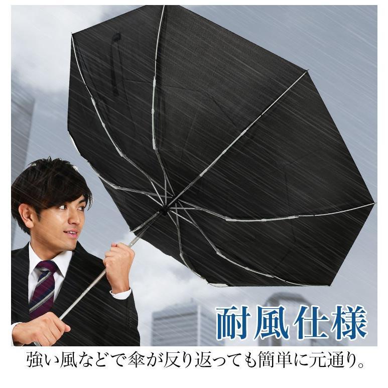 折りたたみ傘 メンズ 自動開閉 大きい 風に強い 耐風 ワンタッチ 65cm|story-web|04