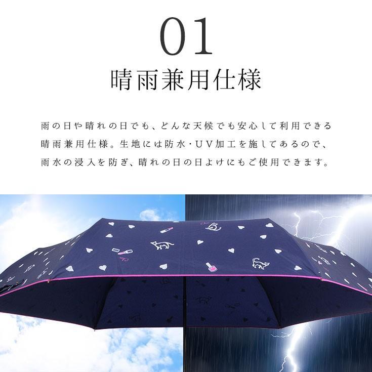 送料無料 折りたたみ傘 レディース 軽量 かわいい グラスファイバー ピコレース 晴雨兼用 story-web 02